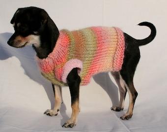 WARM- Dog Sweater Knitting Pattern, PDF, XS-M