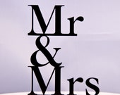 Mr and Mrs with ampersand wedding caketopper design 4 - Mr. & Mrs. wedding cake topper - wedding cake topper