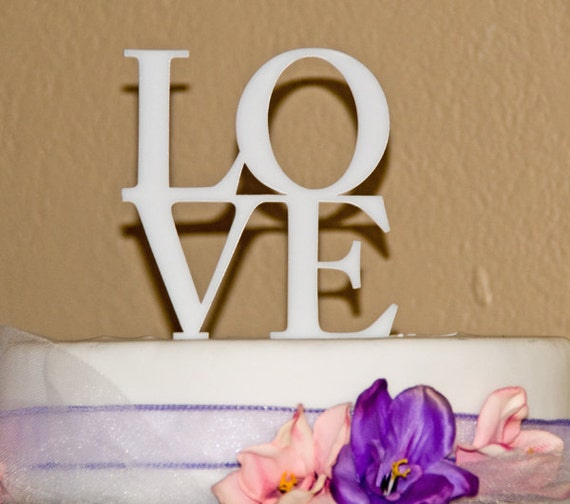 LOVE Wedding Cake Topper LOVE in block letters cake topper