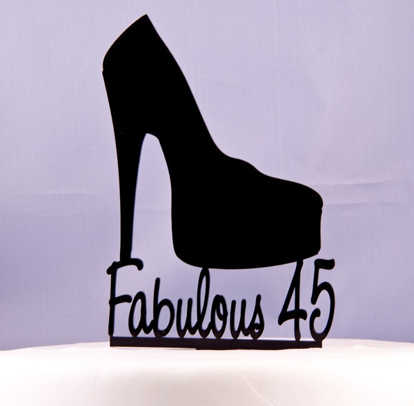 platform high heel shoe birthday cake topper fabulous 45. Black Bedroom Furniture Sets. Home Design Ideas