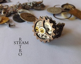 10% off sale17 The Anarchy Punk Steampunk ring - Steampunk Jewelry by  Steamretro