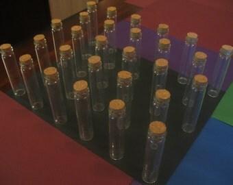10 13ml Bitty Bottles. Small Corked Glass Bottles. Glass Jars With Corks.  Miniature Glass Bottles. Vials. Mini Glass Jars. Wedding Gifts.