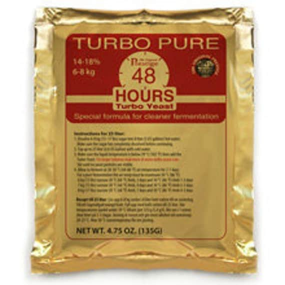 Turbo Pure 48 Hours Distilling Yeast For Making Home Crafted Spirits