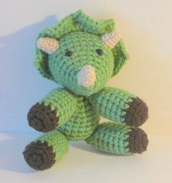 Amigurumi Stuffing Alternatives : Amigurumi Triceratops PDF Crochet Pattern INSTANT DOWNLOAD