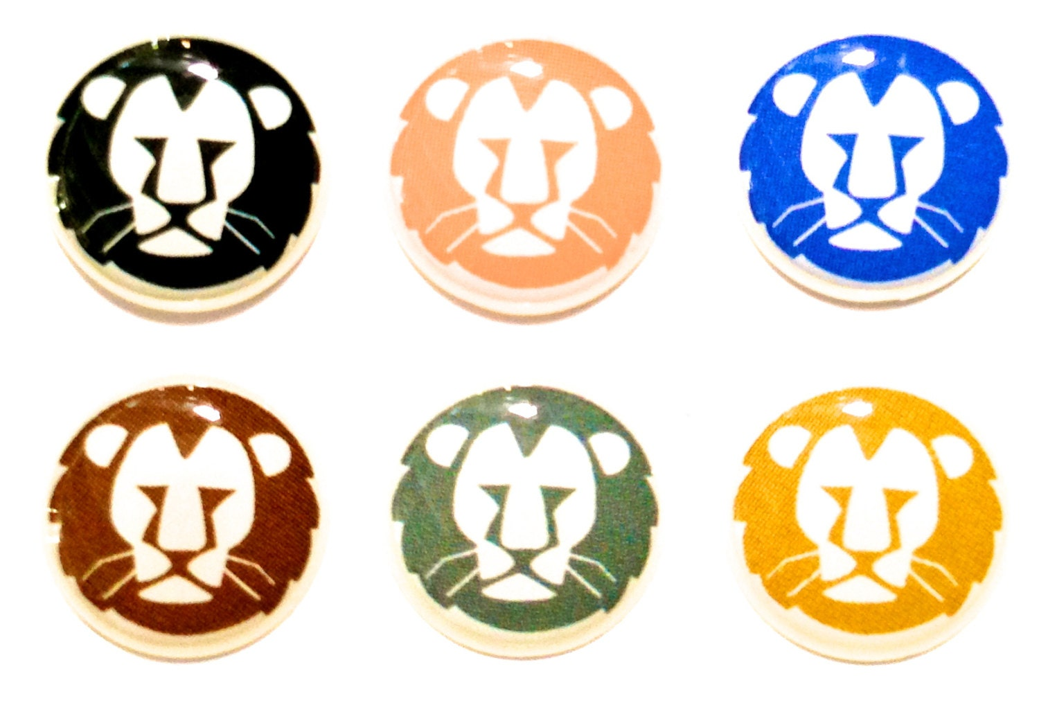 lion 6 piece iphone home button stickers for apple by