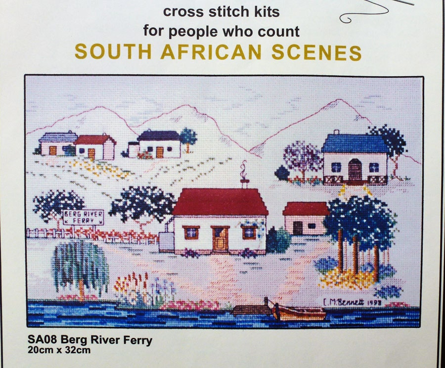 Cross Stitch Kit South African Scenes Houses By EnoughIsEnough
