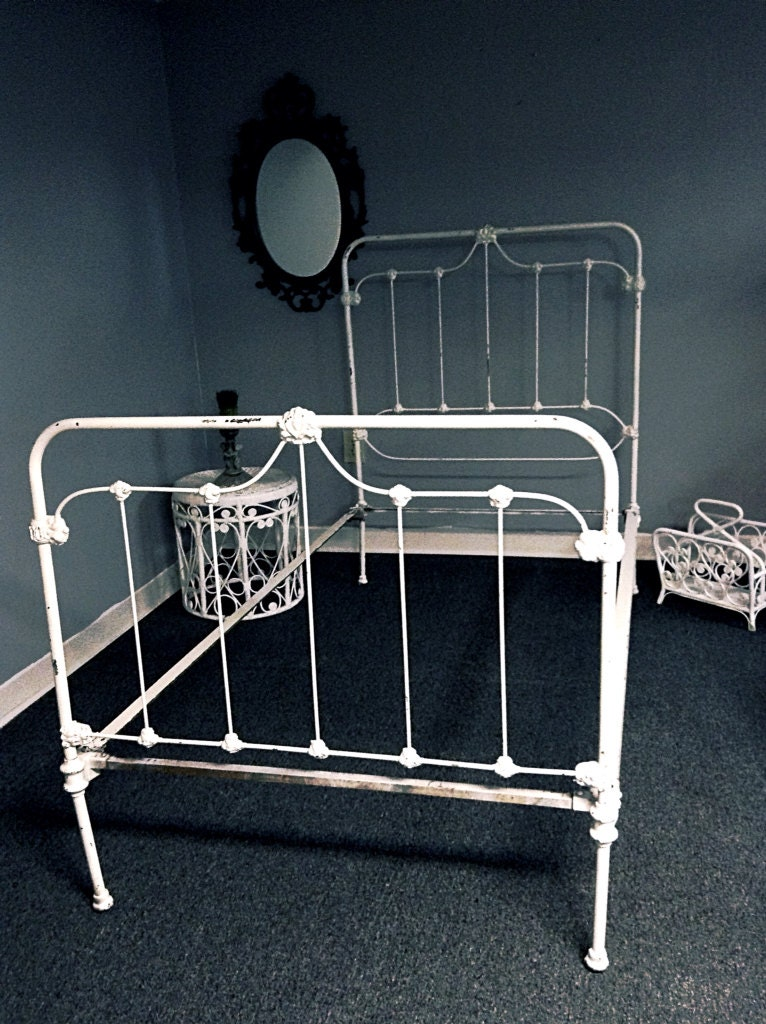 Sold To Holly Antique Cast Iron Twin Bed Frame