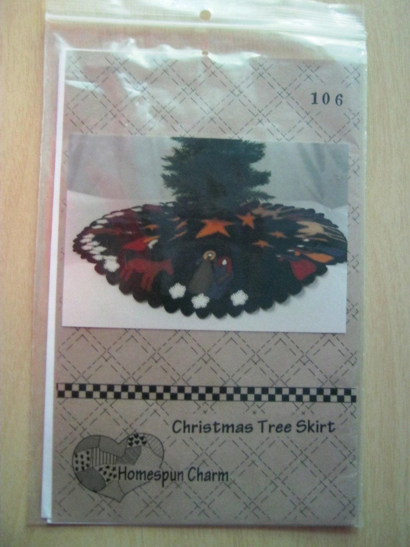 Wool felt christmas tree skirt pattern by dakotajoyce on etsy