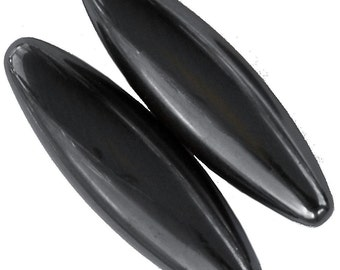 """2 Pieces 2.25"""" Long x 1/2"""" wide Hematite Magnets"""
