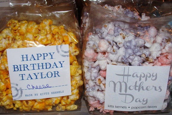Custom Popcorn Favors