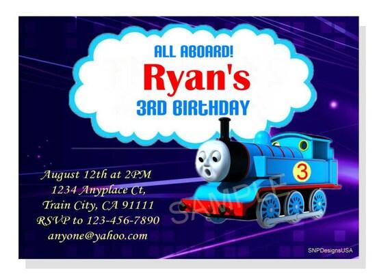 items similar to personalized thomas the train birthday invitation diy digital download on etsy