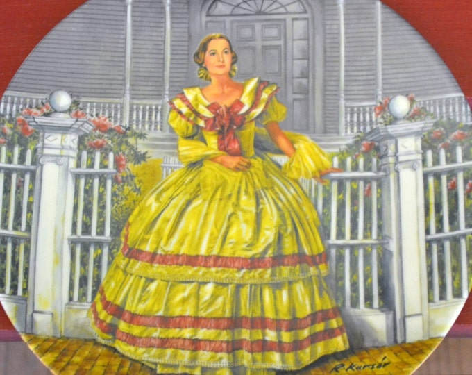 DEAL OF WEEK Collectible Knowles Plate Melanie by Raymond Kursar Gone With the Wind Series  Original Box  1980
