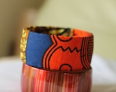 African Print Cloth Fashion Bangle Bracelet