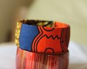 African Print Cloth Fashion Bangle Bracelet