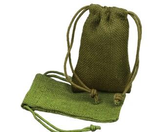 3 x 5 Moss Burlap Wedding Bags (24 Pack)