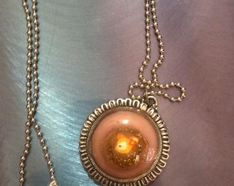 Baby Deer resin and Tibetan silver pendant