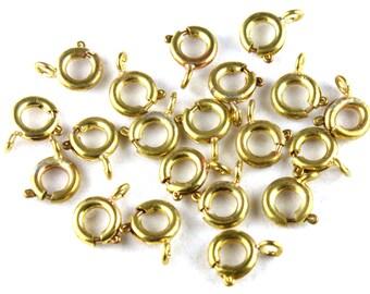 20x Brass Spring Clasps - F010