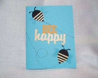Bumble Bee Friendship Greeting Card-Bee Happy