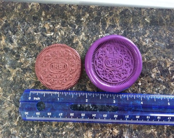 Large Oreo cookie silicone mold