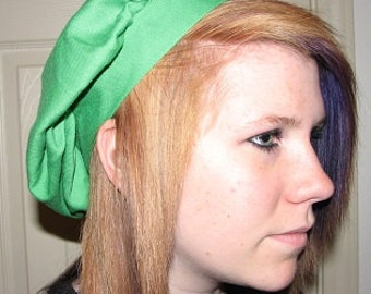 Medieval Renaissance Green Muffin Cap Hat