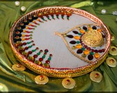 Items similar to 02at 10803 aarti pooja thali decorative for Aarti dish decoration