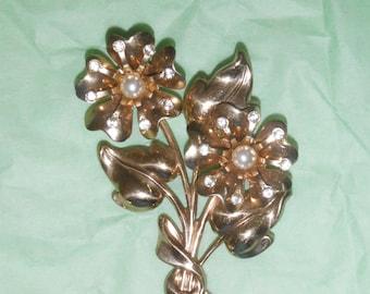 Floral Art Deco Brooch, by Coro