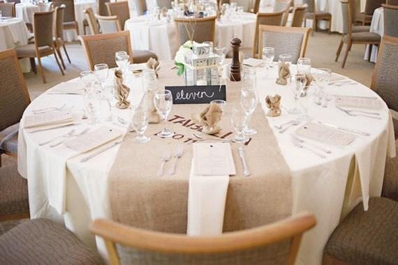 Items Similar To Modern Rustic Burlap Table Runner Industrial Wedding On Etsy