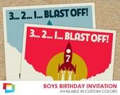 Boys Birthday Invitation 7x7