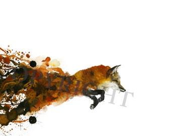 Fox Watercolor Print