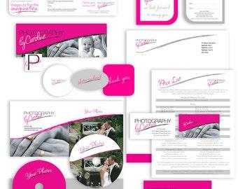 Photography marketing set branding kit editable templates photography logo branding
