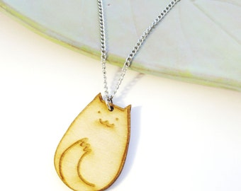 SAMPLE SALE Sitting Kitty Cat Charm Necklace