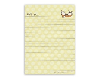 Letter Paper: Owl and the Pussycat letter writing paper - letter writing pad - owl and pussycat stationery paper pad - boygirlparty