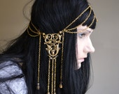 Ambergris Art Nouveau GoddessChain Headpiece Head Chain Headdress