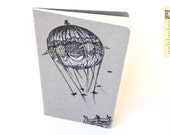 Large Notebook . Bridges and Balloons Moleskine . Grey Cover Plain Pages . Sketchbook Journal . Hot Air Balloon . Inventions - shoofly