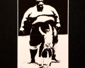 The Sumo Wrestlers Limited Giclee Print 5X7""
