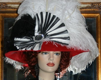 "Kentucky Derby Hat Ascot Hat Edwardian Style Hat ""Lady Joan"""