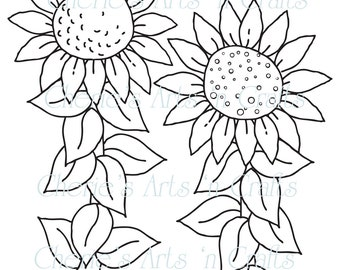 Popular items for printable sunflower on Etsy