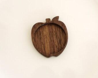 Apple large tray setting bezel fine finished hardwood - Walnut - 35 mm cavity - (G1-W)