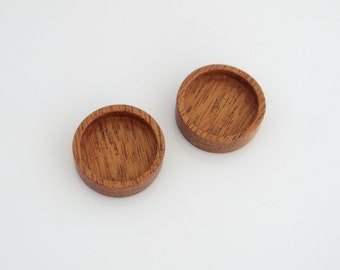 No laser fine hardwood bezel trays  - Mahogany - 18 mm - (Z18-M) - Set of 2