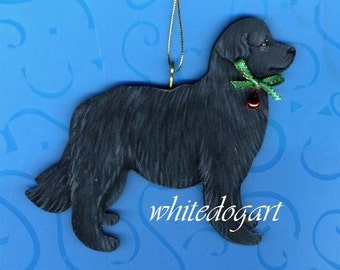 Handpainted Newfoundland Christmas Ornament