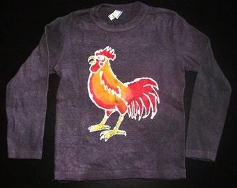 Kids Handmade Batik Rooster T-shirt