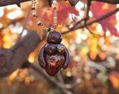Goddess Pendant AUTUMN TREE Chocolate