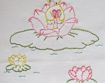 Hand Embroidery PDF Pattern - Little Duckling's Party