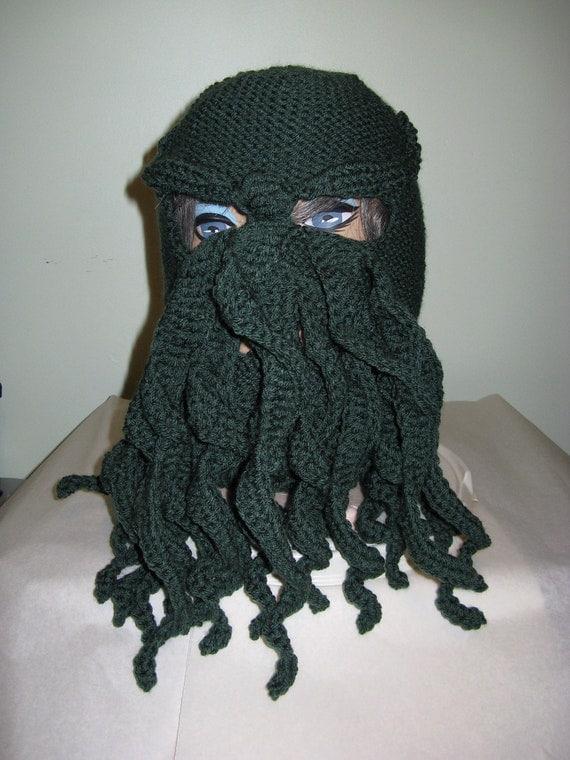 Ski Mask Knitting Pattern : Cthulhu Ski Mask Knit and Crochet To Order fun by n2Imaginations