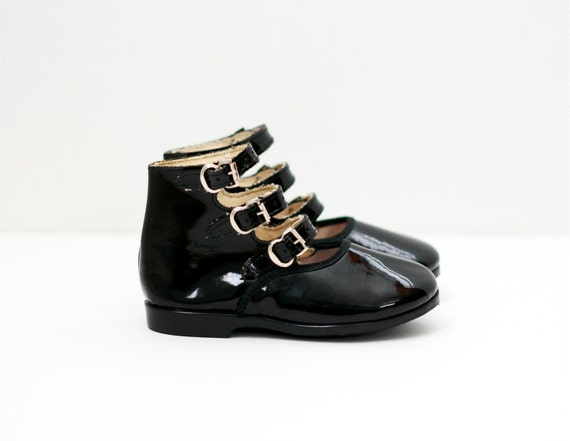 sz 5 6 toddler black patent leather janes shoes