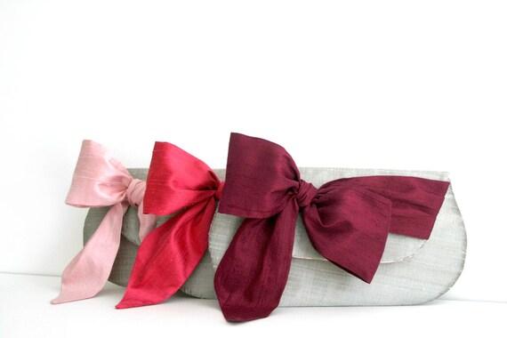 Silk Bridesmaid Clutch. Merlot Wedding Clutch. Bridesmaid Gift. Personalized Clutch. Blush Bridesmaid Clutch. Red Clutch. Silver Clutch