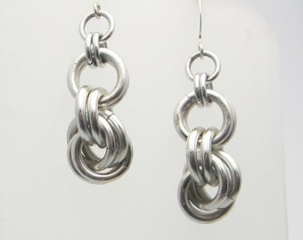 Spiral Knots Chainmaille Earrings Handmade