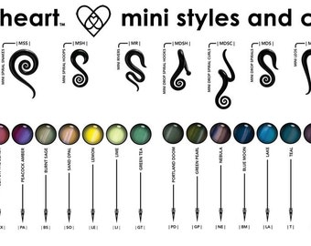Custom | 6G or 8G | Minis | Gauged Glass Body Jewelry for Stretched Piercings by Glassheart