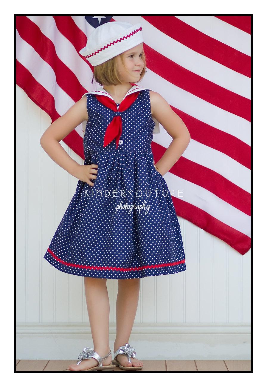 Sailor Dress Pattern Pdf Sewing Pattern Girls Sailor