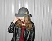 """Felt Floppy Bohemian Hat with 3"""" brim - grey"""
